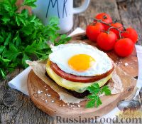 """Фото к рецепту: Немецкий теплый сендвич """"Крепкий Макс"""""""