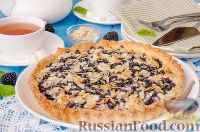 Фото к рецепту: Пирог с творогом и черникой