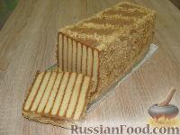 """Фото к рецепту: Торт """"Полосатый"""" (без выпечки)"""