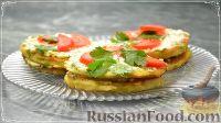 Фото к рецепту: Оладьи из кабачков (в виде закусочных тортиков)
