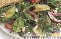 Фото к рецепту: Салат из шпината с яблоками