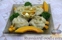 Фото к рецепту: Манты с тыквой