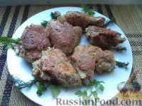 Фото к рецепту: Курица жареная с сыром