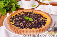 Фото к рецепту: Финский пирог с черникой