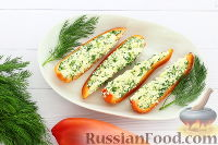 Фото к рецепту: Закуска из перцев и сыра