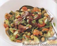 Фото к рецепту: Ягнятина с нутом и овощами