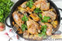 """Фото к рецепту: Запеченная курица """"40 зубчиков чеснока"""""""
