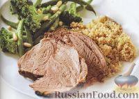 Фото к рецепту: Ягненок с кускусом и овощами
