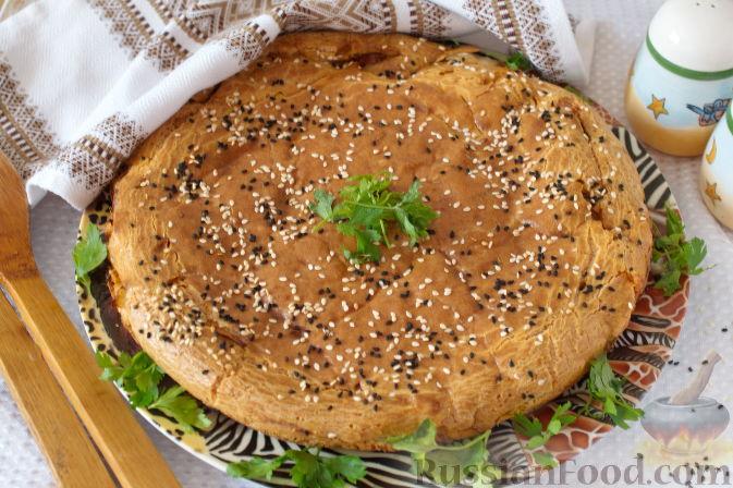Быстрый пирог с капустой на майонезе пошаговый рецепт