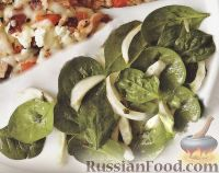 Фото к рецепту: Салат из шпината с фенхелем