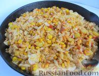 Фото к рецепту: Ризони с кукурузой и овощами