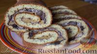 Фото к рецепту: Кабачковый рулет с грибами и сыром