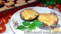 """Фото к рецепту: Горячие """"бутерброды"""" из баклажанов (в духовке)"""