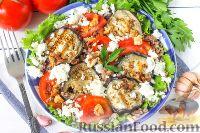 Фото к рецепту: Салат из гречки с баклажаном