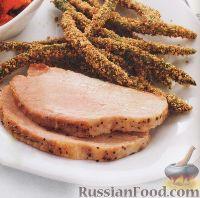 Фото к рецепту: Запеченная свинина с жареной зеленой фасолью