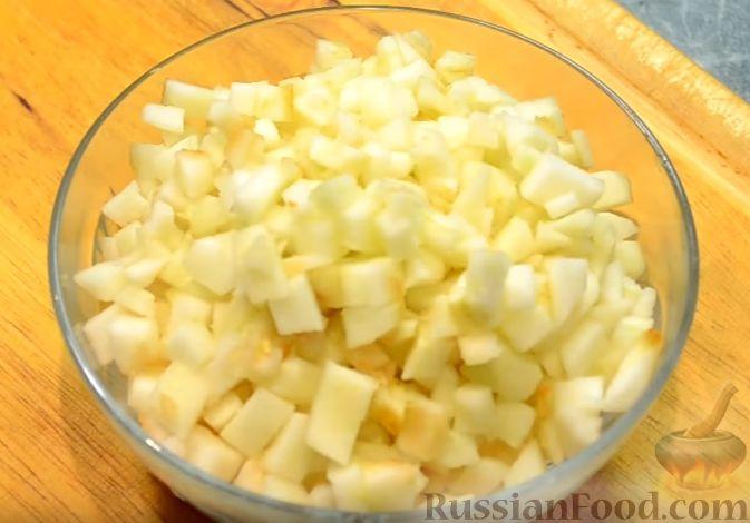 Фото приготовления рецепта: Салат «Пестрый» с необычным соусом - шаг №5