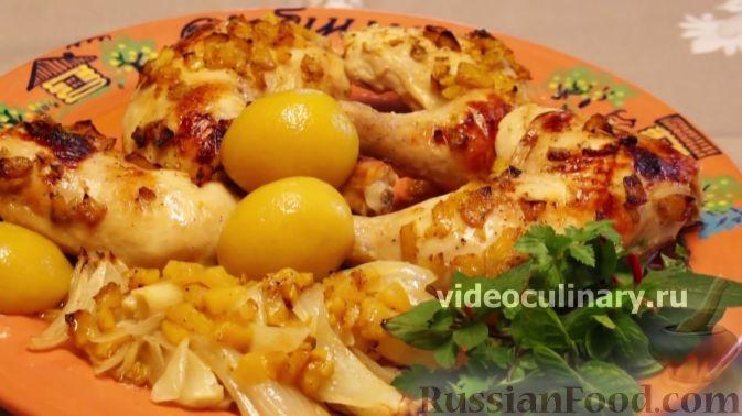 Фото приготовления рецепта: Курица в персиковой глазури - шаг №8