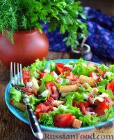 Фото к рецепту: Салат BLT (с беконом, латуком и томатами)