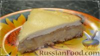 Фото к рецепту: Яблочный пирог на кефире, с творожным кремом