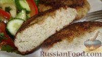 Фото к рецепту: Котлеты из баклажана и куриной грудки