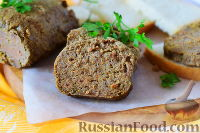Фото к рецепту: Домашняя печеночная колбаса с салом