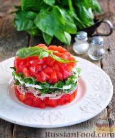 Фото к рецепту: Салат с тунцом и моцареллой