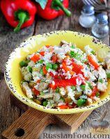 "Фото к рецепту: Салат ""Кармен"" с курицей и рисом"