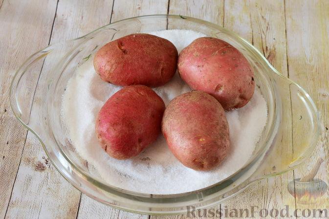 Фото приготовления рецепта: Закуска из картофеля и семги - шаг №2