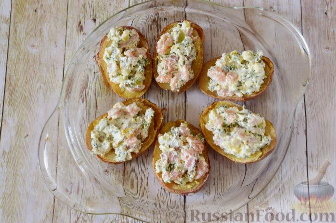 Фото приготовления рецепта: Закуска из картофеля и семги - шаг №8