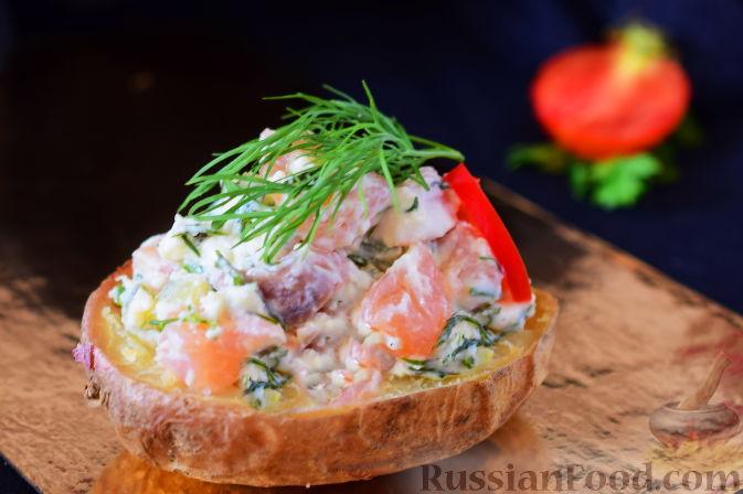 Фото приготовления рецепта: Закуска из картофеля и семги - шаг №9