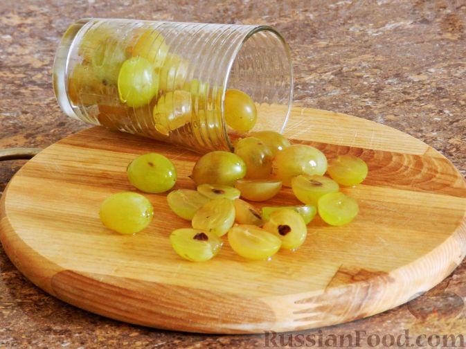 Фото приготовления рецепта: Виноградно-йогуртовое желе - шаг №5