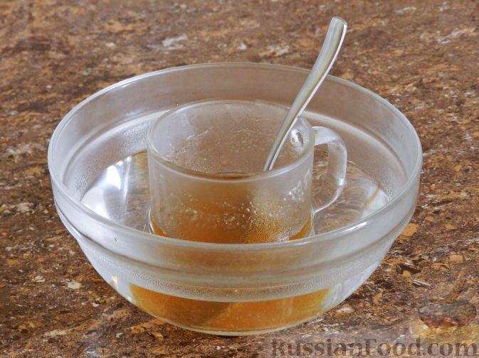 Фото приготовления рецепта: Виноградно-йогуртовое желе - шаг №3