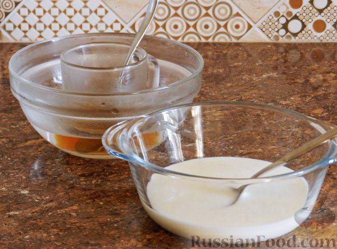 Фото приготовления рецепта: Виноградно-йогуртовое желе - шаг №8