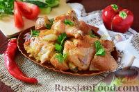 Фото к рецепту: Курица в горчичном маринаде, запечённая с картофелем