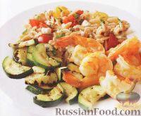 Фото к рецепту: Креветки с цуккини и орцо