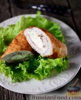 Фото к рецепту: Карагеоргиев шницель (мясной рулет с сыром)