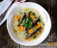 Фото к рецепту: Рисовый суп со шпротами