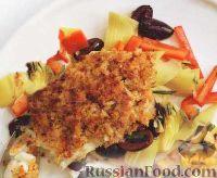Фото к рецепту: Морской окунь с салатом из артишоков