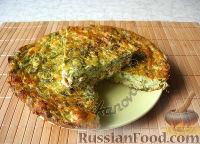 Фото к рецепту: Запеканка из кабачков с сыром и зеленью