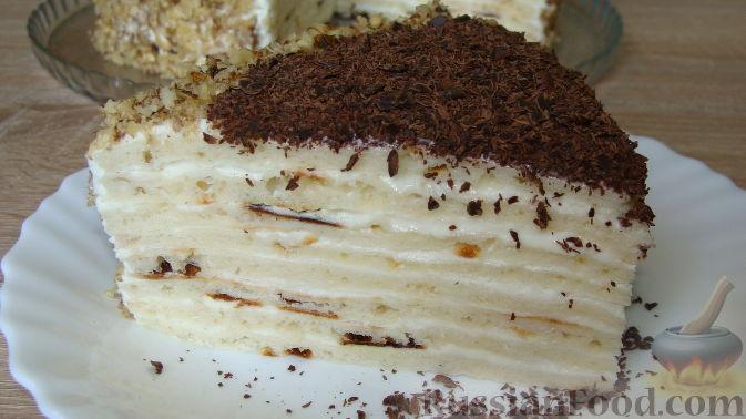торт творожный на сковороде рецепт с фото