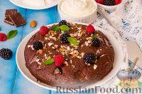 Фото к рецепту: Кладкака (шведский шоколадный пирог)