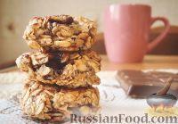 Фото к рецепту: Овсяное печенье с шоколадом (на сковороде)