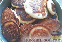 Фото к рецепту: Оладушки на кефире