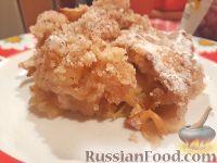 Фото к рецепту: Насыпной пирог с яблоками