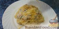 Фото к рецепту: Паста с креветками под сливочным соусом