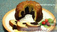 Фото к рецепту: Мраморный кекс с миндалем и корицей
