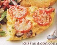 Фото к рецепту: Фриттата с помидорами и маслинами