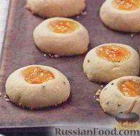 Фото к рецепту: Печенье c апельсиновым мармеладом и розмарином