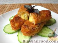 Фото к рецепту: Картофельные палочки с сыром