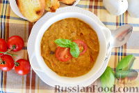 Фото к рецепту: Суп с баклажанами и цуккини, по-корсикански